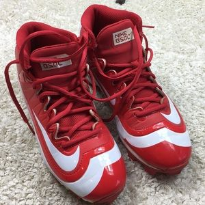 Nike BSBL Huarache cleats sz 6.5  GUC Baseball red